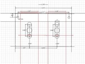Custom Power Strip Bracket Design 1